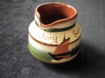 VINTAGE MINI GLAZED CREAM JUG LONGPARK TORQUAY WARE SWANAGE SAILING BOATS TLC